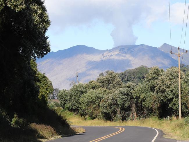 The Turrialba Volcano was emitting gases when news.com.au visited Costa Rica in February 2019. Picture: Megan Palin.