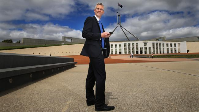 Sky News political editor David Speers, one of the 50 most powerful people in television. Picture Gary Ramage/ News Corp Australia