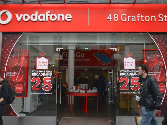 Vodafone has seen a reduction in the number of customer complaints to the ombudsman.