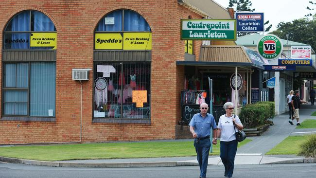 Bill Spedding's former business in Laurieton near Kendall, where police investigated William Tyrrell's disappearance. Picture: Britta Campion.