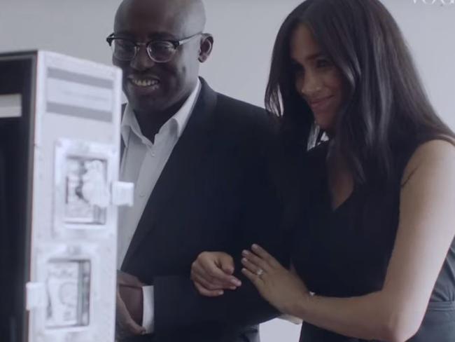 With British Vogue editor Edward Enniful. Picture: Vogue