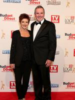 Jackie Woodburne and Alan Fletcher on the red carpet at the 2015 Logie Awards at Crown Casino in Melbourne. Picture: Julie Kiriacoudis