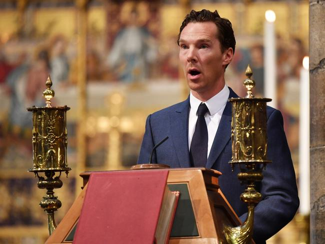 Benedict Cumberbatch led tributes to Professor Stephen Hawking as he was laid to rest. Picture: Getty