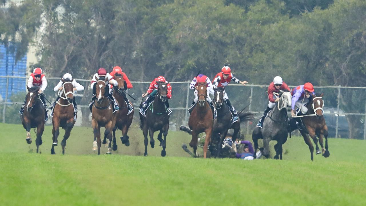 A shot of the incident at Rosehill on Saturday.