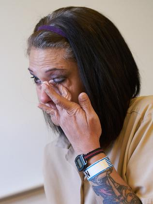Elisa Baker, who was convicted for the murder and dismemberment her 10-year-old Australian stepdaughter Zahra Baker, speaks from inside the North Carolina Women's Correctional Institute. Picture: Tom Fuldner