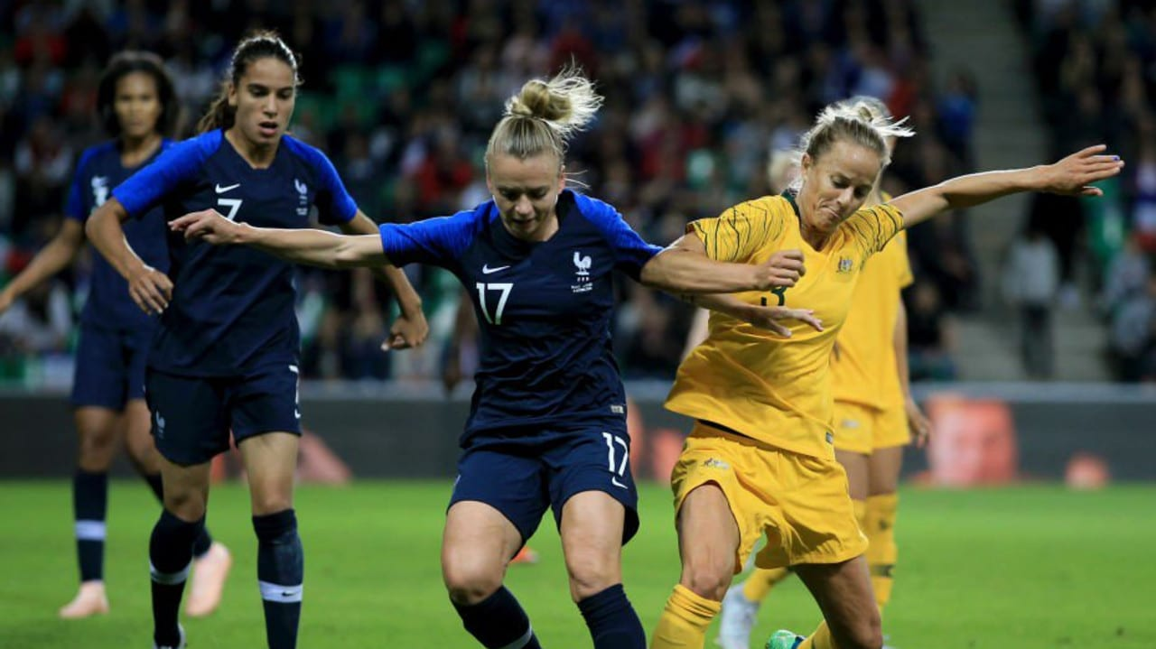 The Matildas in action against France
