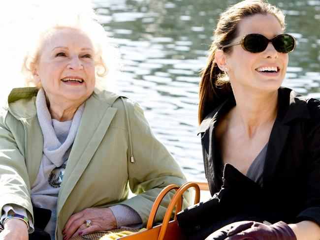 Betty White and Sandra Bullock in a scene from 2009 film The Proposal. Picture: Supplied