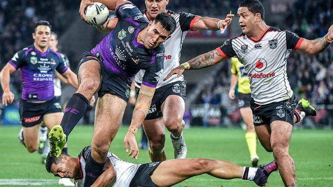 Nelson Asofa-Solomona has re-signed with Melbourne. Picture: Jake Nowakowski