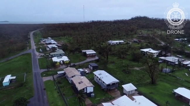 Drone footage of Lockhart River damage from Cyclone Trevor
