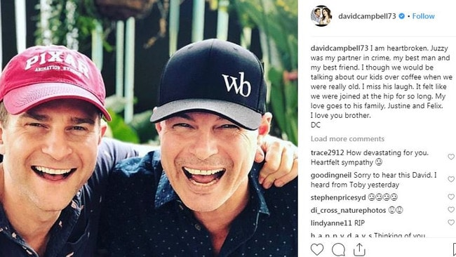 David Campbell's post after learning about his best friend, chef Justin Bull's death.
