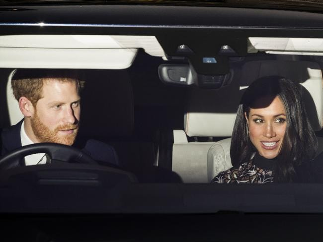 Prince Harry and Meghan Markle arrive at Buckingham Palace for Christmas lunch with the royal family. Picture: Shutterstock/Splash News