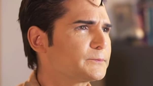 Corey Feldman in a scene from his new documentary about alleged paedophiles in Hollywood.