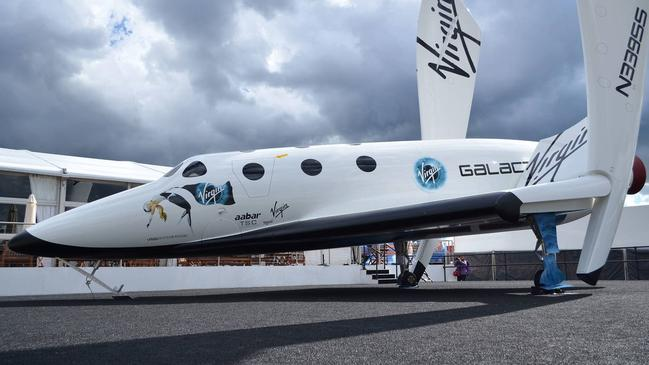 Virgin Galactic Spaceship Two Replica on display at the Farnborough International Airshow, 2012.