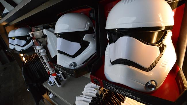 Merchandise at the Star Wars: Galaxy's Edge opening at Walt Disney World Resort in Florida. Picture: Gerardo Mora/Getty Images