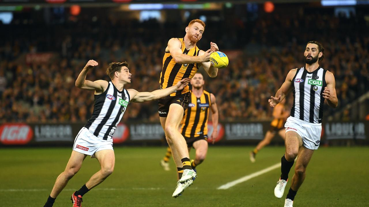 Conor Glass in a game against Collingwood at the MCG in 2019.