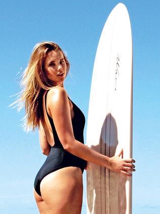 Bree Warren says surfing keeps her fit.