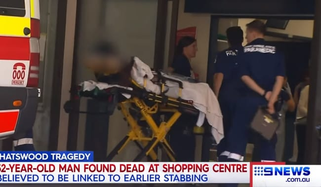 The 14-year-old was taken to hospital with stab wounds. Picture: Channel 9