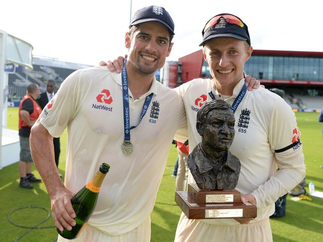 Captain Joe Root (R) and Alastair Cook will be central to England's hopes with the bat this summer.