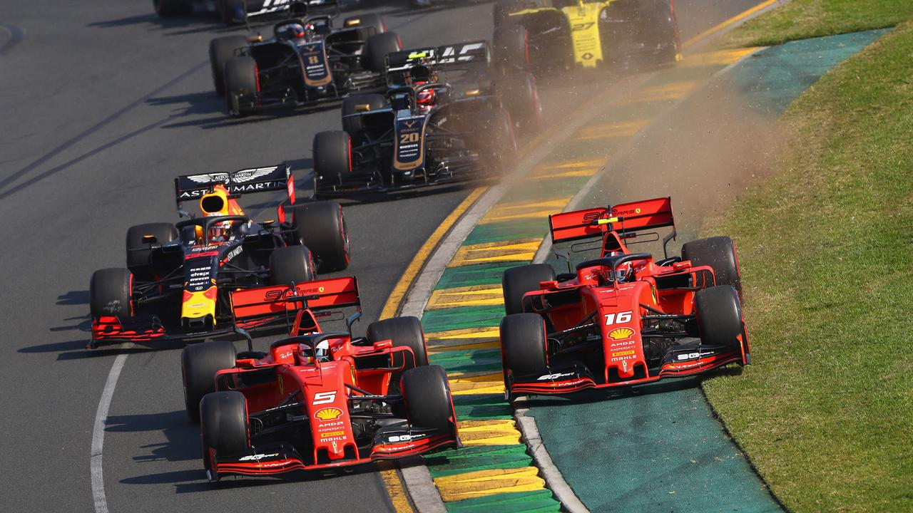 The Ferraris of Sebastian Vettel and Charles Leclerc were someway off the pace.
