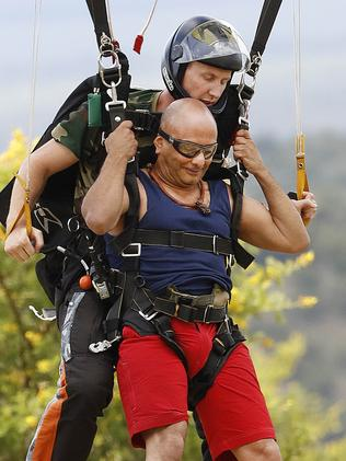 Akmal Saleh at the I'm A Celebrity camp. Picture: Nigel Wright, Channel Ten