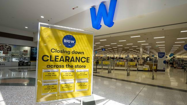 Three Big W stores in Sydney's west, including the one above at Chullora, will close at the end of the month. Picture: AAP/Image Matthew Vasilescu.