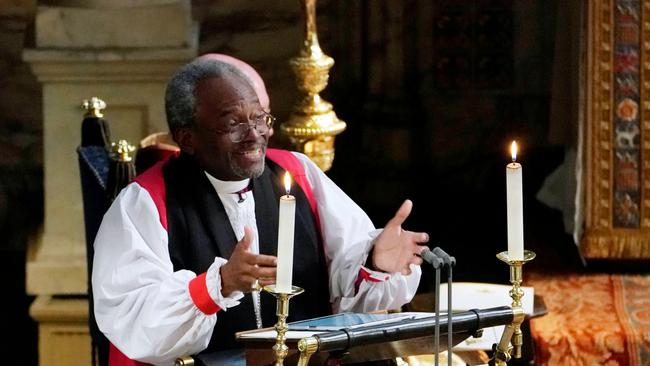 Samantha said she was feeling inspired by The Most Rev Bishop Michael Curry's sermon. Picture: Owen Humphreys/REUTERS