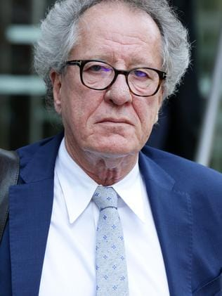 Geoffrey Rush outside the court. Picture: Jonathan Ng.