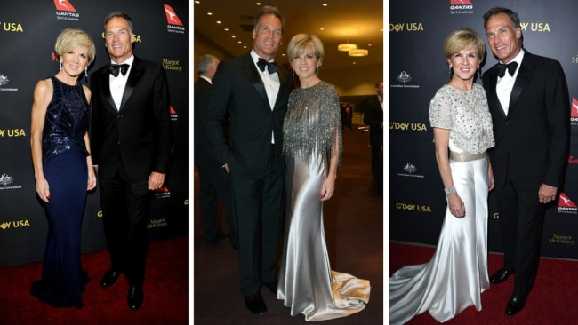 Julie Bishop and boyfriend David Panton are regulars on the red carpet. Photos: John Sciulli/Getty Images,