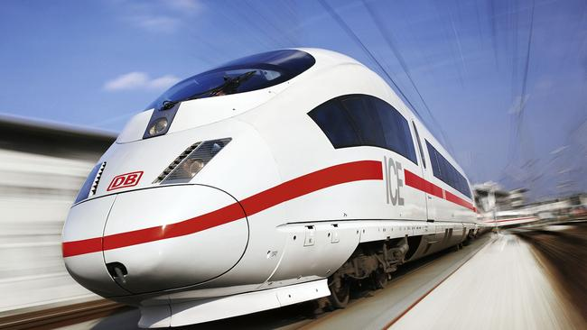 Don't be expecting trains similar to these German high speed ICE trains in Australia anytime soon.