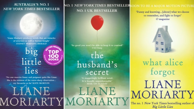 Three of Moriarty's most popular books. Photo: Supplied