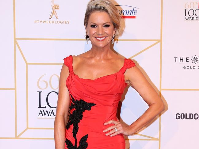 Sandra Sully at the Logies.