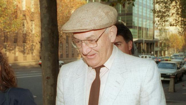 Gerald Ridsdale outside court in Melbourne.