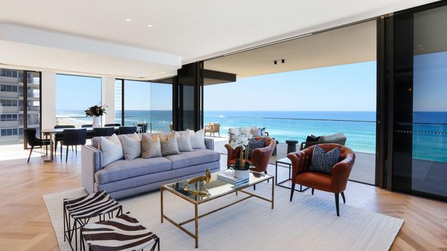 This penthouse at 3533 Main Beach Pde, Main Beach, sold for $8.25m in 2019.