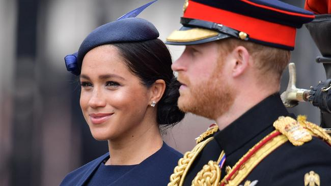 Meghan and Harry at the Trooping the Colour earlier this month. Picture: Daniel Leal-Olivas/AFP