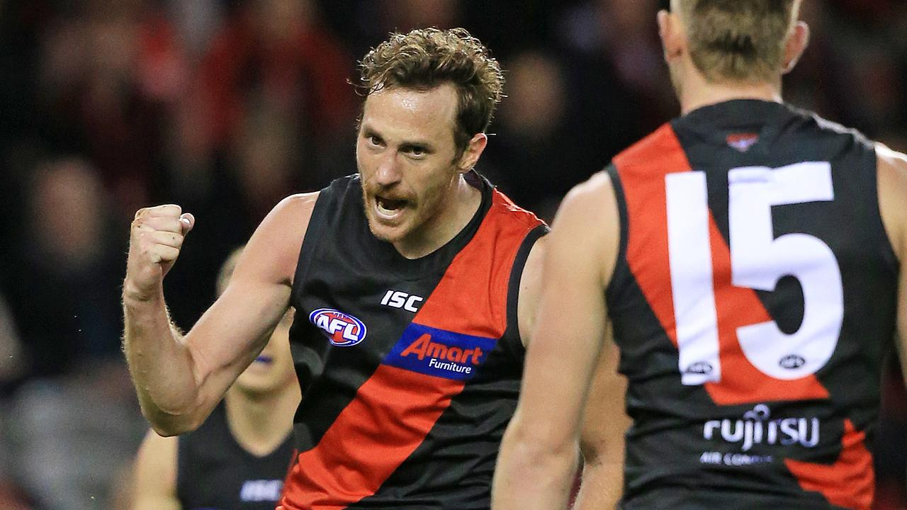 Delisted Bomber Mitch Brown is set to train with Melbourne. Picture: Mark Stewart