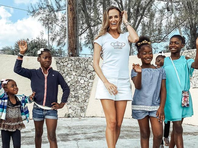Jena Sims in Gambier Village.
