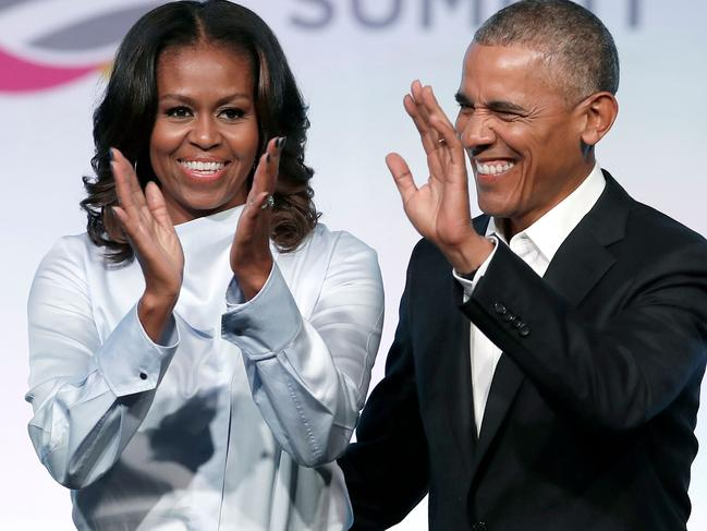 Former US President Barack Obama and his wife Michelle. Picture: AFP