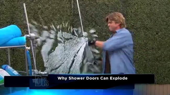 Cracks may cause glass shower door to explode