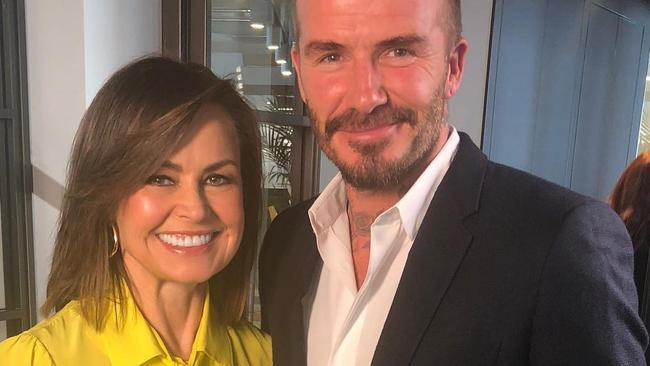 Lisa Wilkinson interviewed David Beckham on The Project. Picture: Instagram