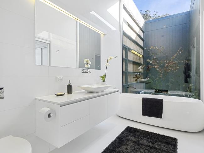 Sleek bathroom style.