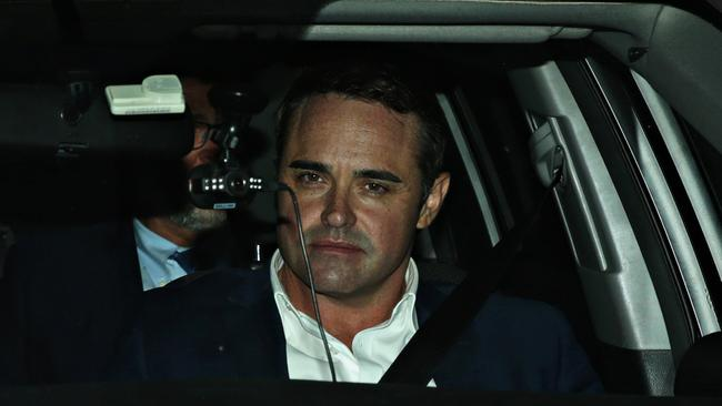 Ben McCormack leaving Redfern police station. Picture: Adam Yip/ The Manly Daily