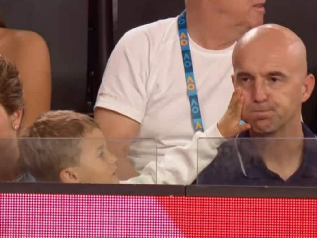 Roger Federer's son, Lennis, is way too cute.