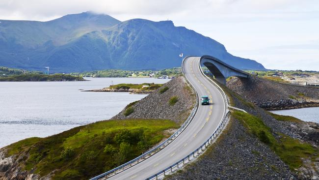 At just 8.3km long, Norway's Atlantic Road is short and sweet.