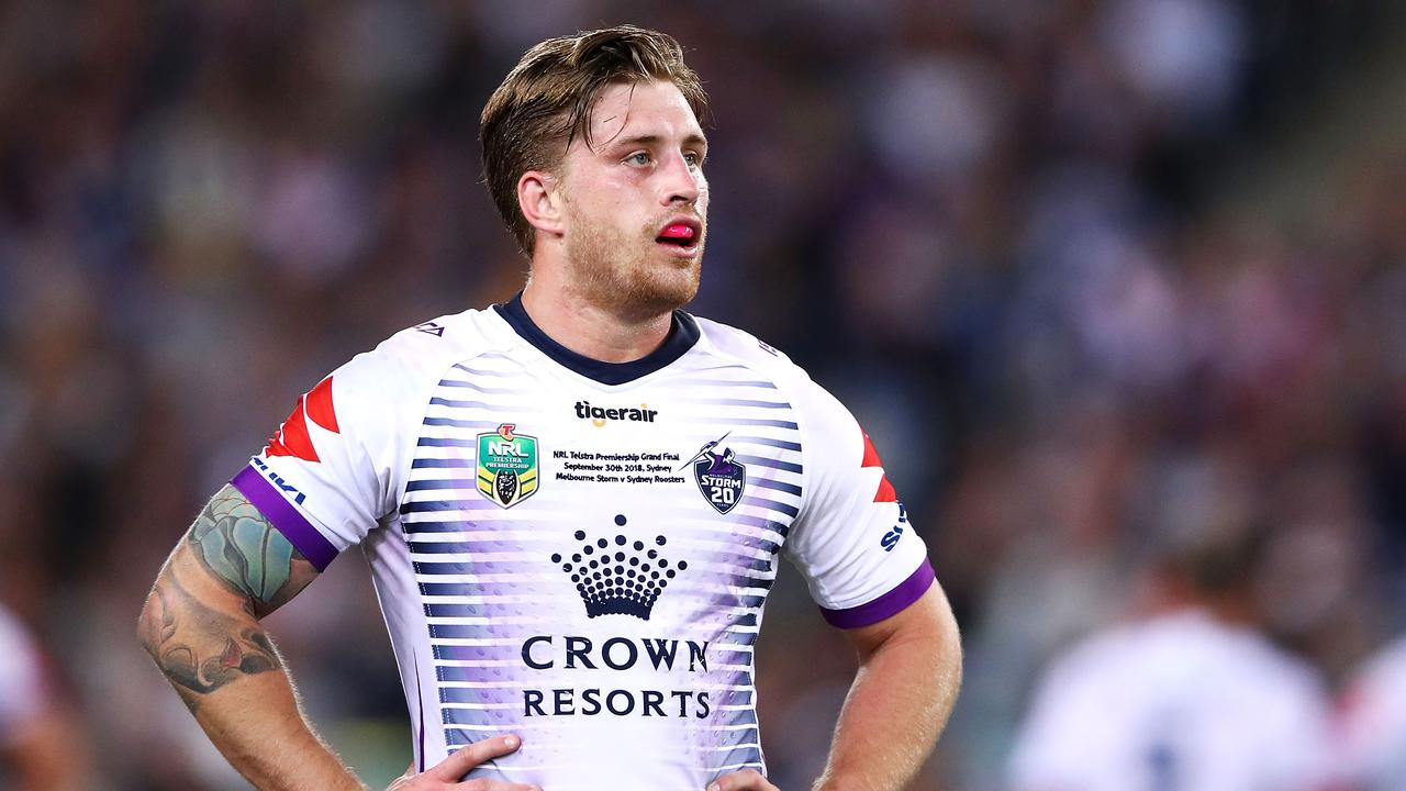 Cameron Munster has some competition when it comes to securing Melbourne Storm's No.1 jersey.