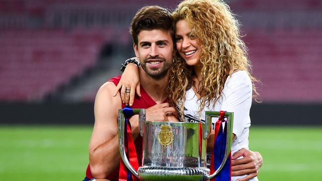 Gerard Pique of FC Barcelona and Shakira. Picture: David Ramos/Getty Images
