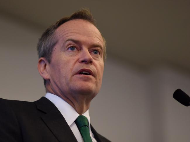 Australian Opposition Leader Bill Shorten has labelled right-wing MPs fighting against Safe Schools 'knuckle-draggers'. Picture: AAP Image/Lukas Coch