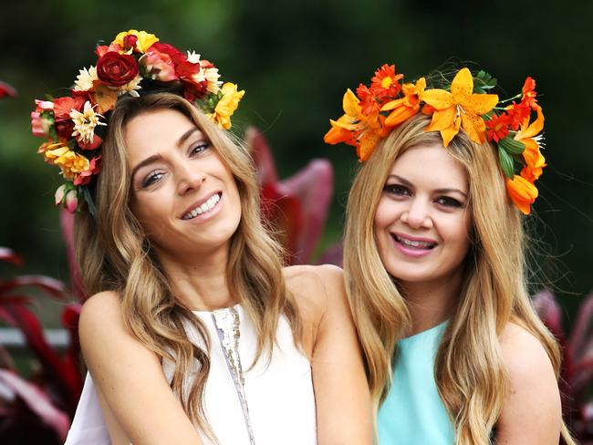 Fresh floral headbands are a bright look if you're stuck for time on Cup Day. Picture: Supplied.