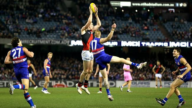 Carlisle ripped the Bulldogs apart with eight goals. Picture: Wayne Ludbey