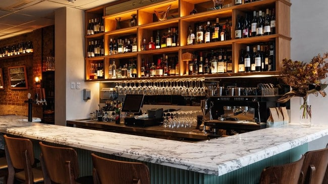 The two-storey bar has more than 400 bottles of wine on offer.