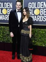 BEVERLY HILLS, CALIFORNIA - JANUARY 05: (L-R) Bill Hader and Rachel Bilson attend the 77th Annual Golden Globe Awards at The Beverly Hilton Hotel on January 05, 2020 in Beverly Hills, California. (Photo by Frazer Harrison/Getty Images)